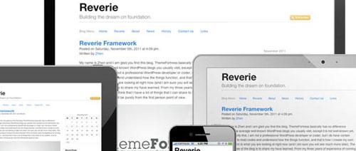 Reverie: Versatile HTML5 Responsive WordPress Framework