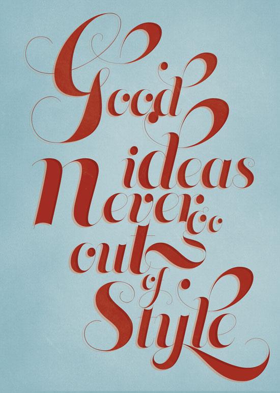 Good ideas Typography Experiment