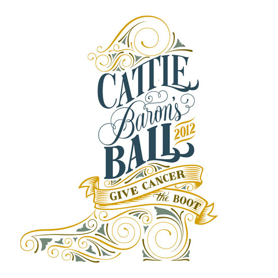 Cattle Barons Ball Typography Experiment
