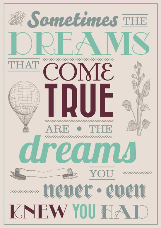 Dreams Typography Experiment