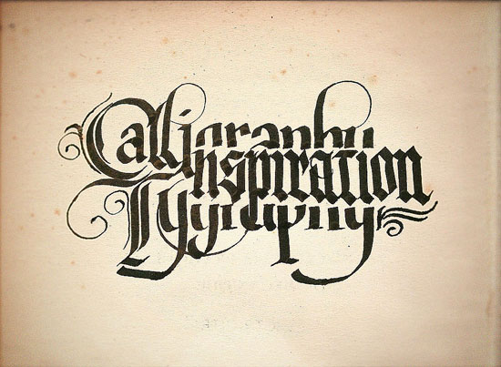 Calligraphy Typography Experiment