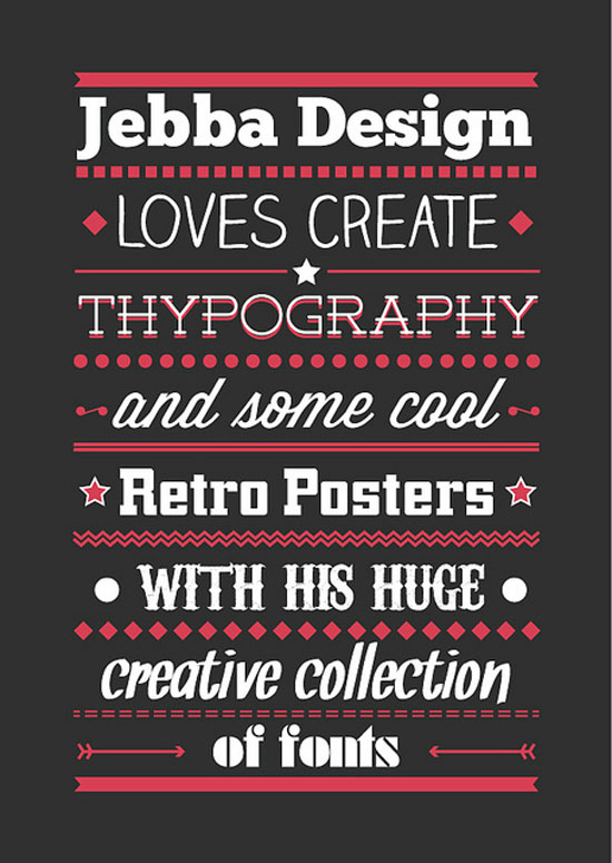 Jebba Design Typography Experiment