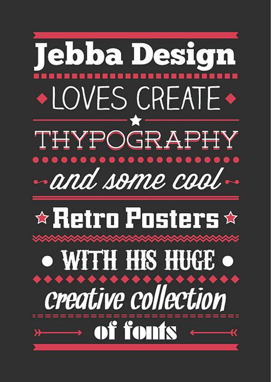 Jebba Design Typography Experiment