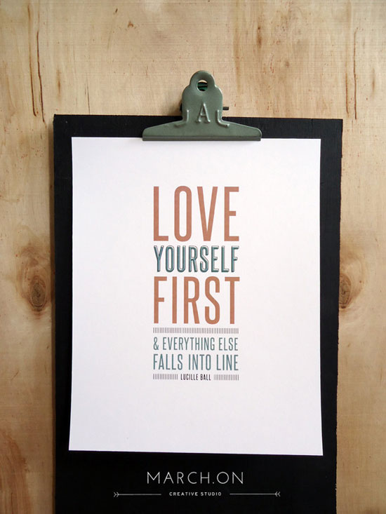 Love yourself first Typography Experiment