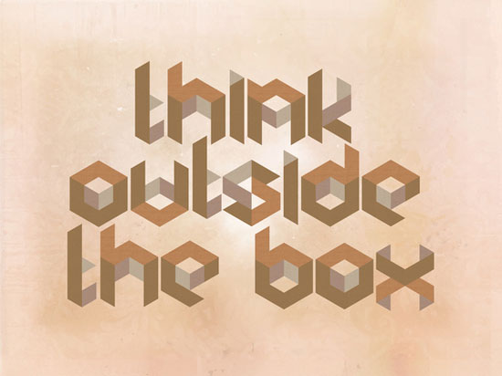 Think Outside The Box Typography Experiment