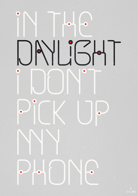 In the daylight Typography Experiment