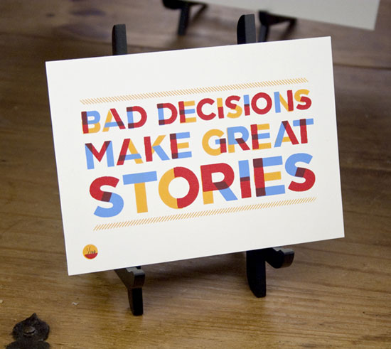 Bad decisions Typography Experiment