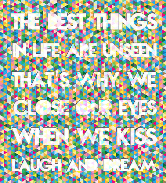 Best Things in Life Typography Experiment