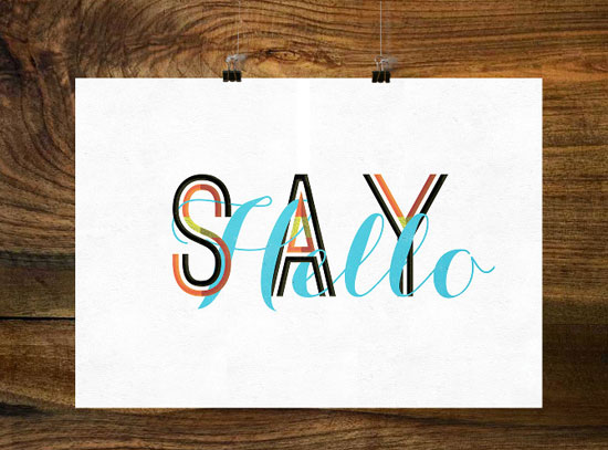 Say hello Typography Experiment