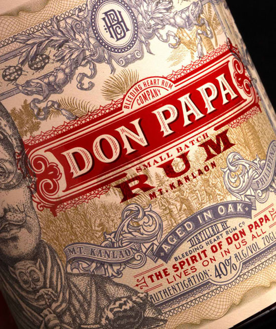 Don Papa Rum Typography Experiment