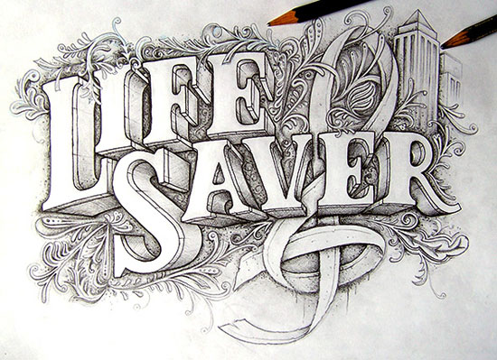 LIFE SAVER Typography Experiment