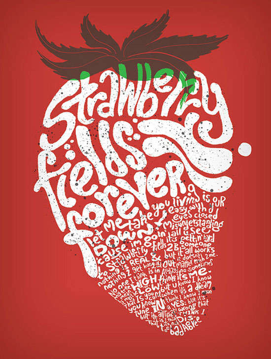 Strawberry Fields Forever Typography Inspiration