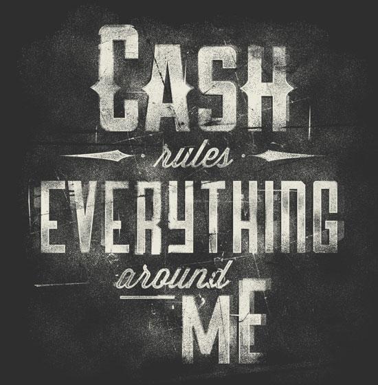 C-R-E-A-M Typography Inspiration