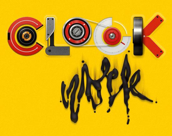 Clockwork Typography Inspiration