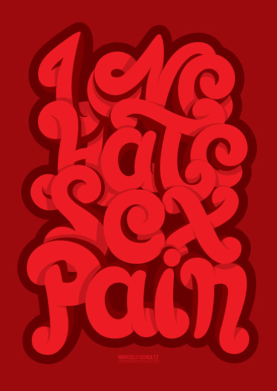LOVE . HATE . SEX . PAIN Typography Inspiration