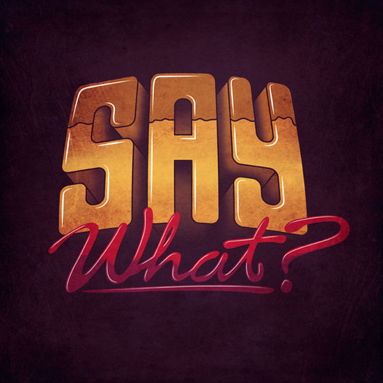 Say What? Logo Typography Inspiration