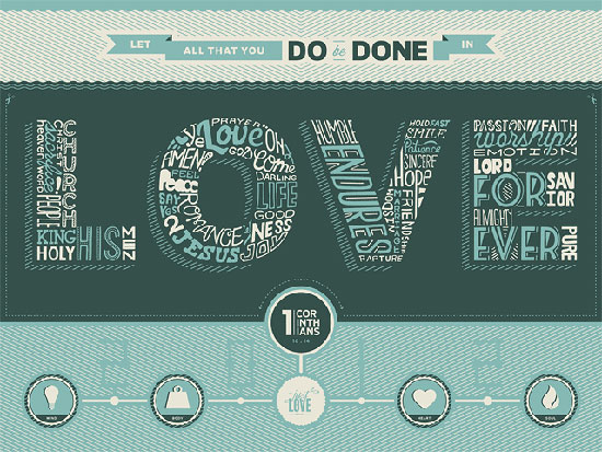 Just Love Typography Inspiration