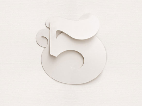 Number 5 Typography Inspiration
