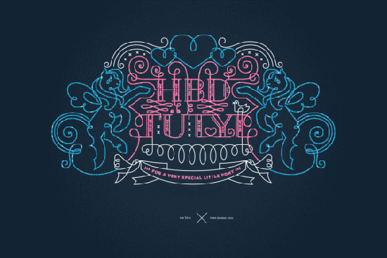 Ornamental lettering Typography Inspiration