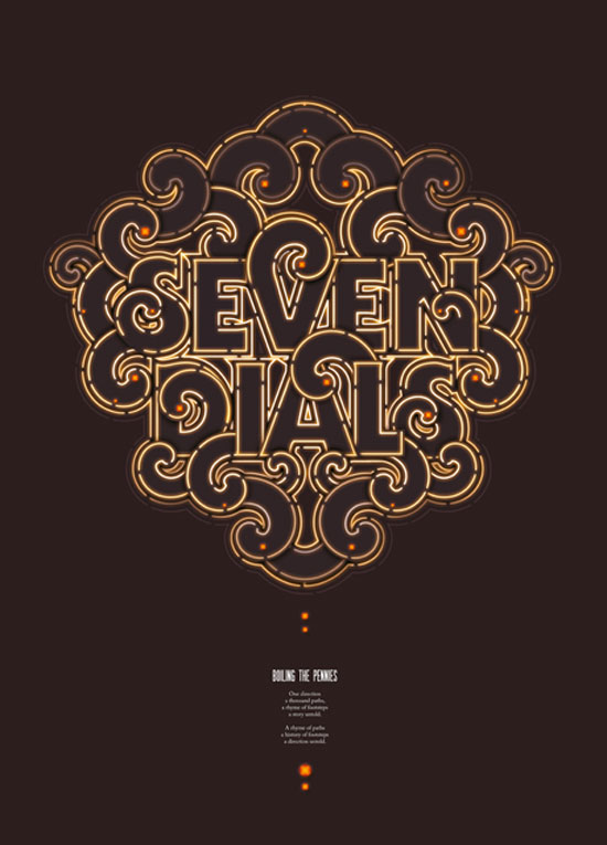 Seven Dials Typography Inspiration
