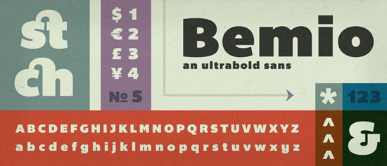 Bemio Free font for download