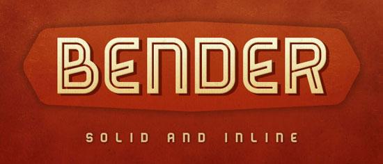 Bender Free font for download