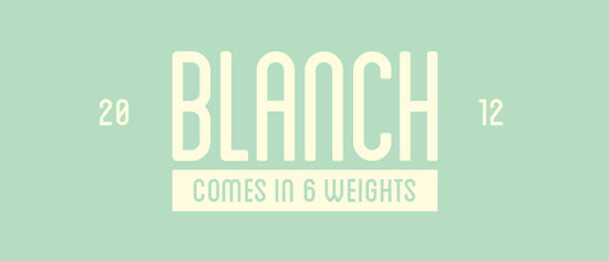 Blanch Free font for download