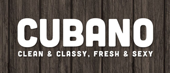 Cubano Free font for download