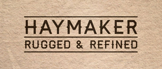 Haymaker Free font for download