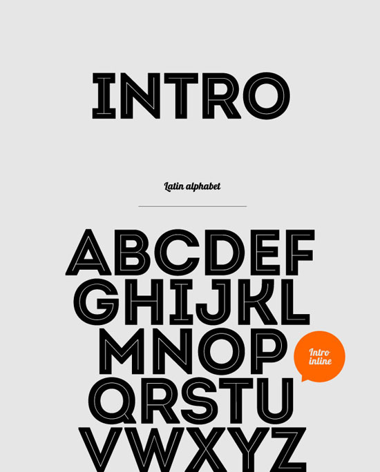 Intro Free font for download