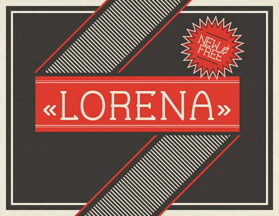 Lorena Free font for download