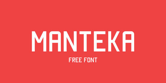 Manteka Free font for download