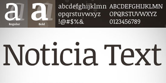 Noticia Text Free font for download