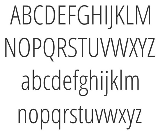 Open Sans Condensed Free font for download
