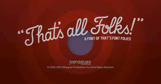That's Font Folks Free font for download