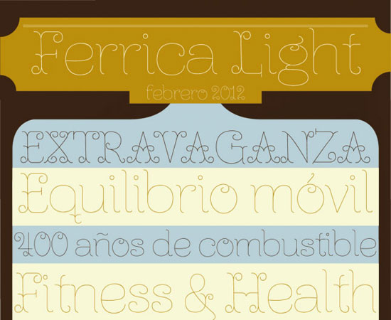 Ferrica Light Free font for download