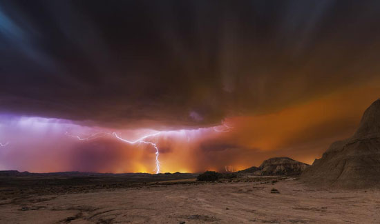 Storm Bardenas Night Photography