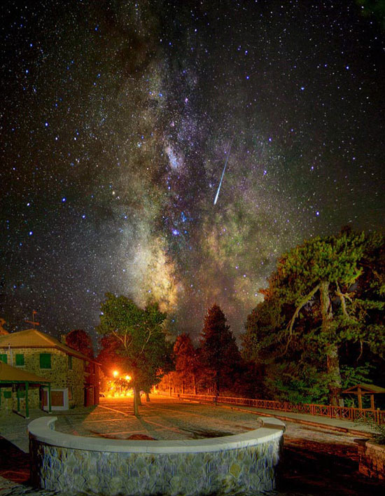Milky Way and a falling star Photography