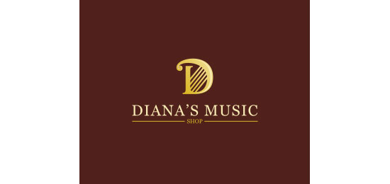 DIANA'S MUSIC SHOP Logo Design