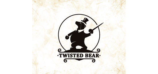 Twisted Bear Logo Design