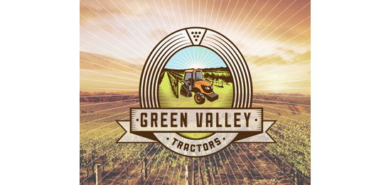 Green Valley Tractors Logo Design Inspiration