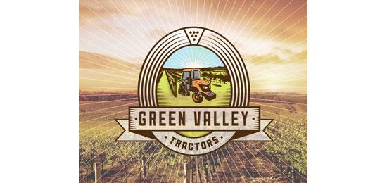 Green Valley Tractors Logo Design Inspiration