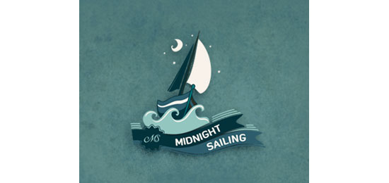 Midnight Sailing Logo Design Inspiration