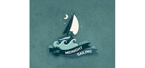 Midnight Sailing Logo Design Inspiration