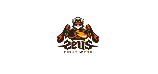 Zeus Fight Wear Logo Design Inspiration