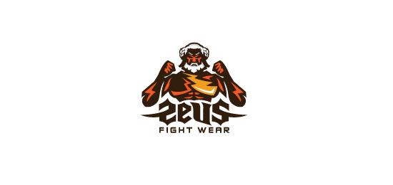 Zeus Fight Wear Logo Design Inspiration