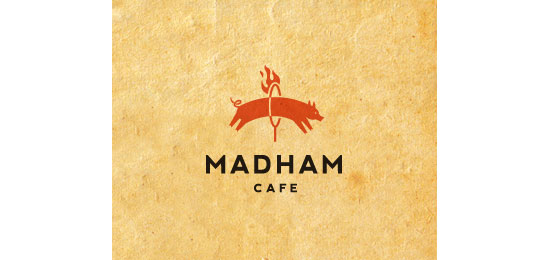 mad-ham cafe Logo Design Inspiration