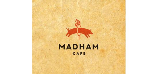 mad-ham cafe Logo Design Inspiration