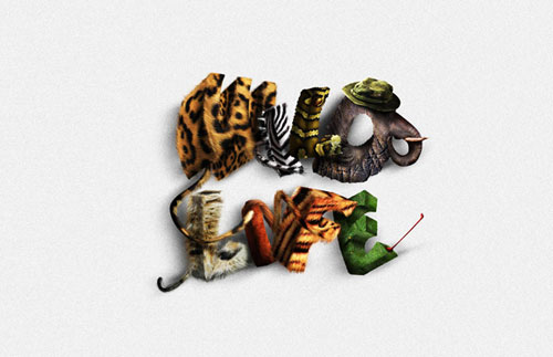 Create Animal Textured Typography