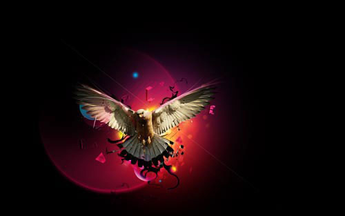 Learn How To Create Colored Eagle Manipulation in Photoshop